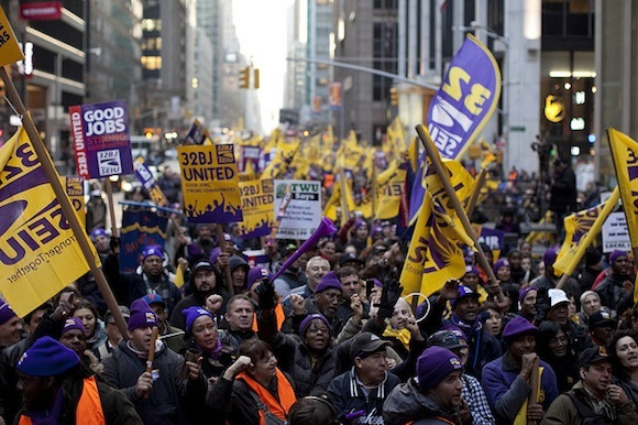 Janitors Across The Country Pledge to Support NYC Office Cleaners As Strike Deadline Looms