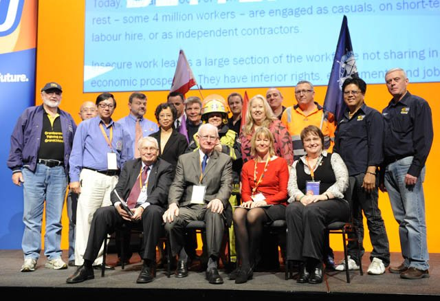 NSW firefighters Union @FBEU at the #ACTUCongress