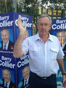 Liberal Minister Brad Hazzard intimidating NSW firefighters at Miranda by-election by taking photos and threatening to report to FRNSW Commissioner.