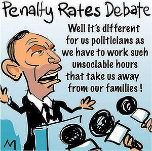 Penalty pay is ok for politicians | #Auspol #Ausunions